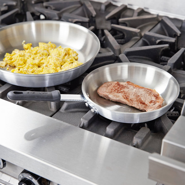 """Carlisle 60708RS SSAL 8"""" Stainless Steel / Aluminum Fry Pan"""