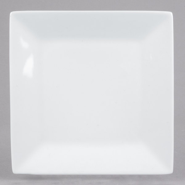 For a trendy departure from traditional dinnerware serve your menu items on this stunning Core bright white 6  square plate!  sc 1 st  WebstaurantStore & Core 6