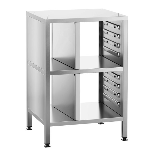 Rational 60.31.044 Open Back SelfCookingCenter XS Combi Oven Stand with 8 Sets of Support Rails Main Image 1