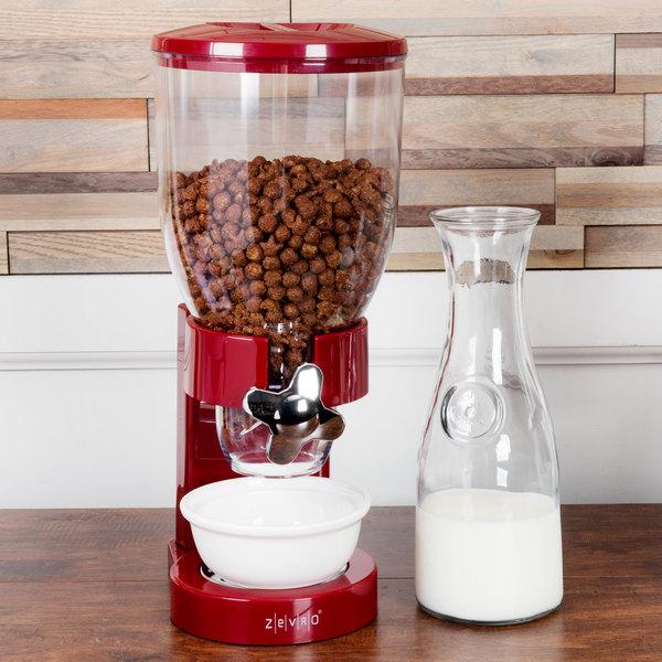 Zevro KCH-06120 Red 4 Liter Single Canister Dry Food Dispenser Main Image 5