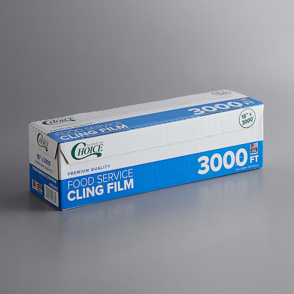 Choice 18 inch x 3000' Foodservice Film with Serrated Cutter