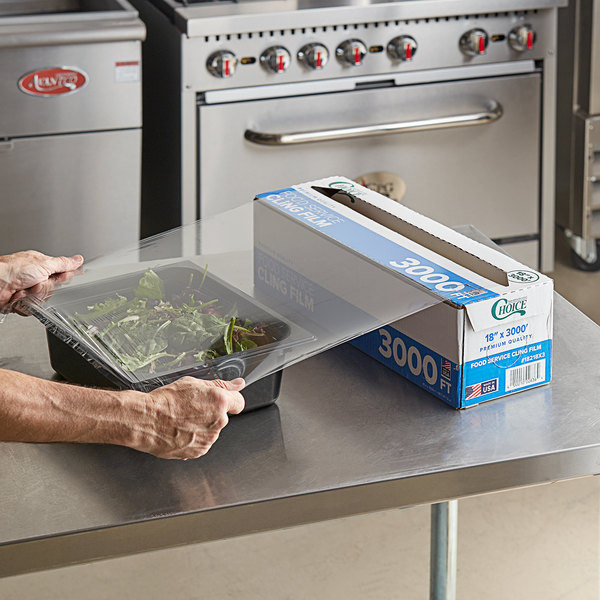 """Choice 18"""" x 3000' Foodservice Film with Serrated Cutter Main Image 2"""