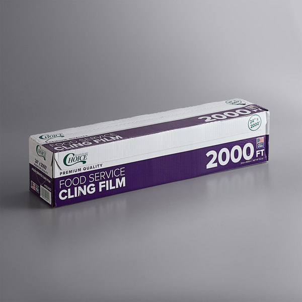 Choice 24 inch x 2000' Foodservice Film with Serrated Cutter