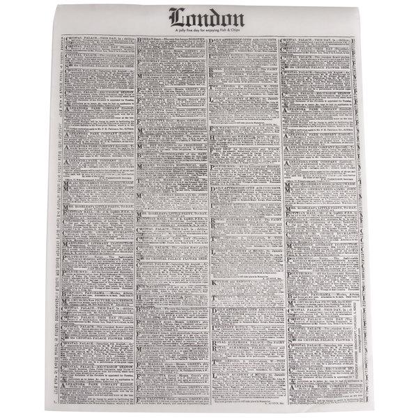 Bagcraft Papercon 300388 16 inch x 12 inch Newsprint Deli Sandwich Wrap Paper - 4000/Case