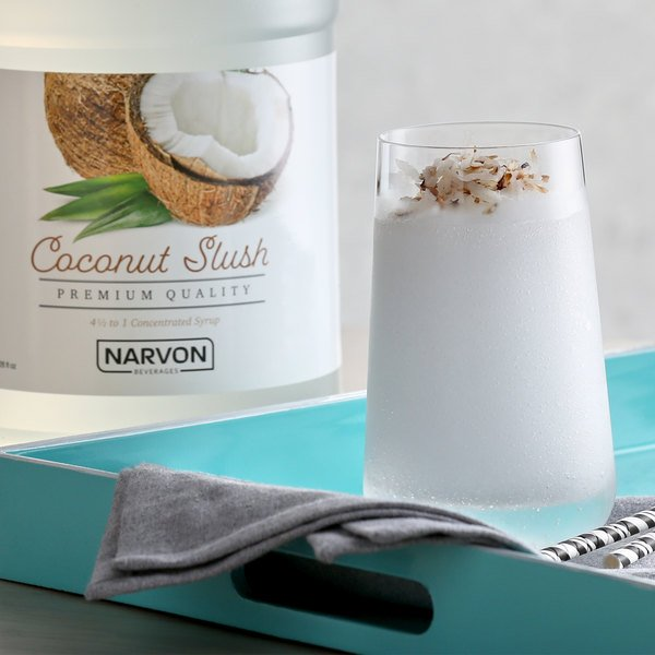 Narvon 1 Gallon Coconut Slushy Syrup - 4/Case Main Image 2