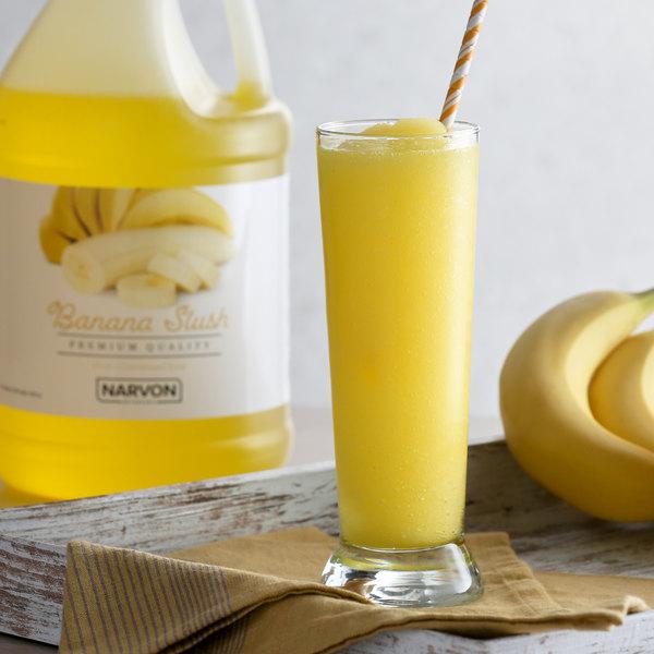 Narvon 1 Gallon Banana Slushy Syrup - 4/Case Main Image 2