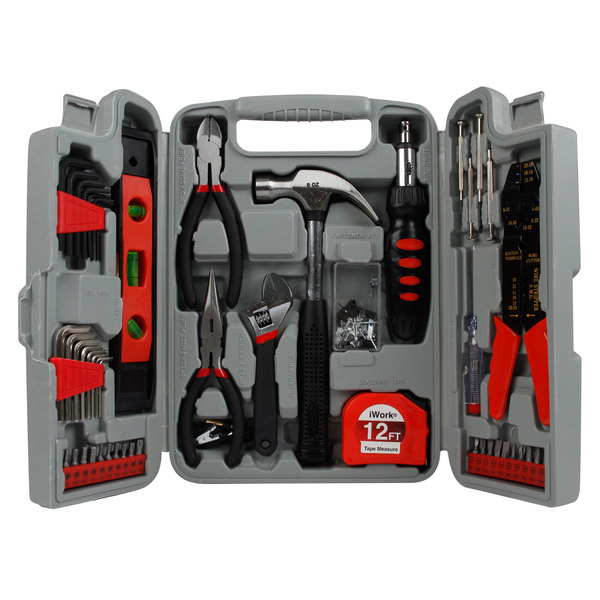 Olympia Tools 80-781 89-Piece Tool Set with Tri-Fold Blow Mold Case