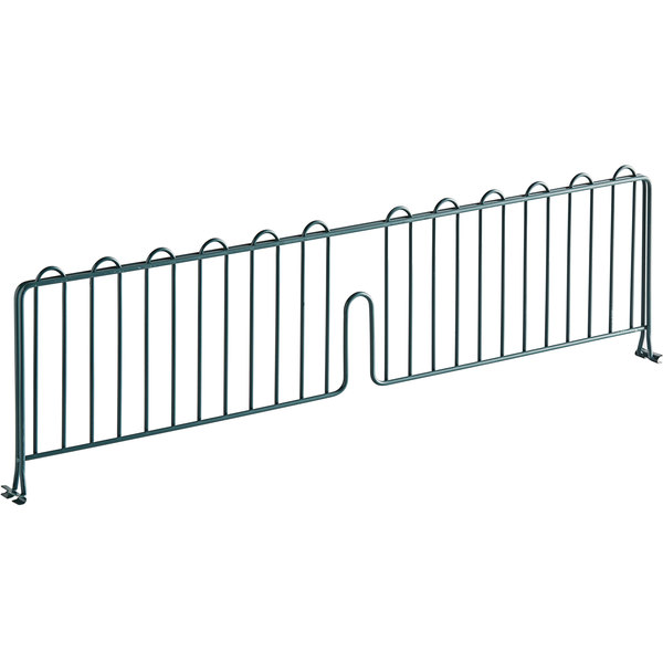 """Regency 30"""" Green Epoxy Wire Shelf Divider for Wire Shelving - 30"""" x 8"""" Main Image 1"""