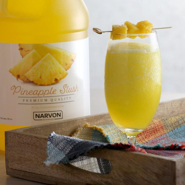 Narvon 1 Gallon Pineapple Slushy Syrup - 4/Case Main Image 2