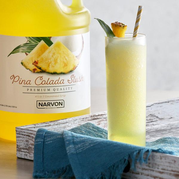Narvon 1 Gallon Pina Colada Slushy Syrup - 4/Case Main Image 2