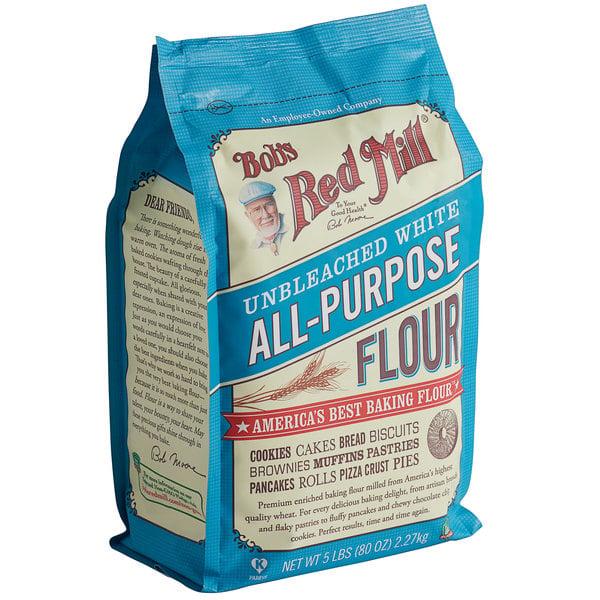 Bob's Red Mill 5 lb. Unbleached All-Purpose Flour - 4/Case