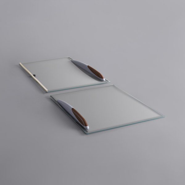 Avantco 360LIDDFF9 Top and Bottom Glass Lids for DFF9-HC - 2/Set Main Image 1