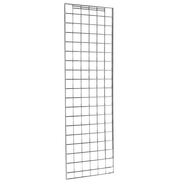 "Metro EP55S Stainless Steel Grid Enclosure Panel 18 3/8"" x 50 3/4"" Main Image 1"