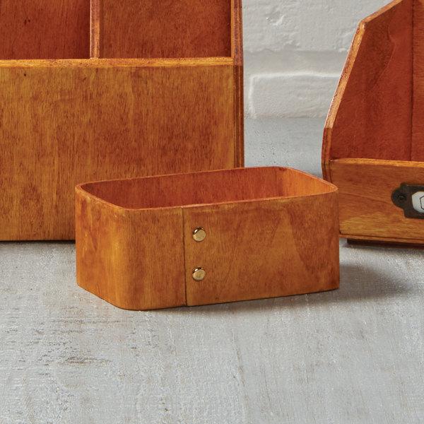 "American Metalcraft PWS4 4"" x 3 5/8"" Natural Poplar Wood Sugar Caddy Main Image 2"