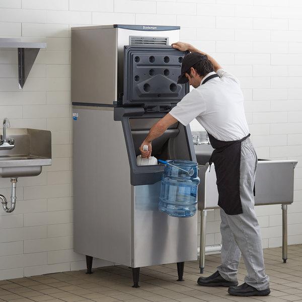 "Scotsman C0322SA-1 Prodigy Series 22"" Air Cooled Small Cube Ice Machine with 370 lb. Storage Bin - 356 lb. Main Image 5"