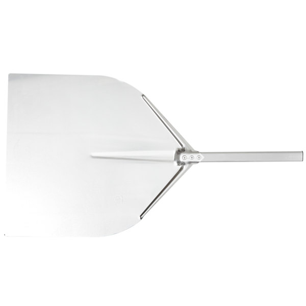 "American Metalcraft ITP1713 17 1/2"" x 18 1/2"" Deluxe All Aluminum Pizza Peel with 15 1/2"" Handle"