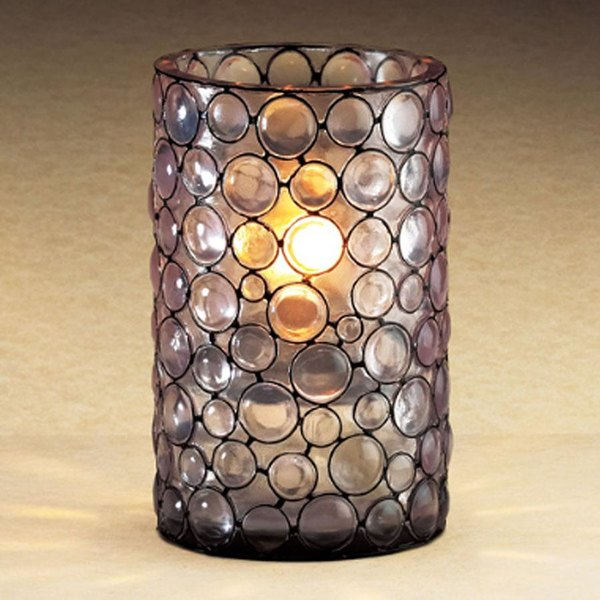 """Sterno Products 80292 4 1/2"""" Mini Resin Bubble Liquid Candle Holder"""