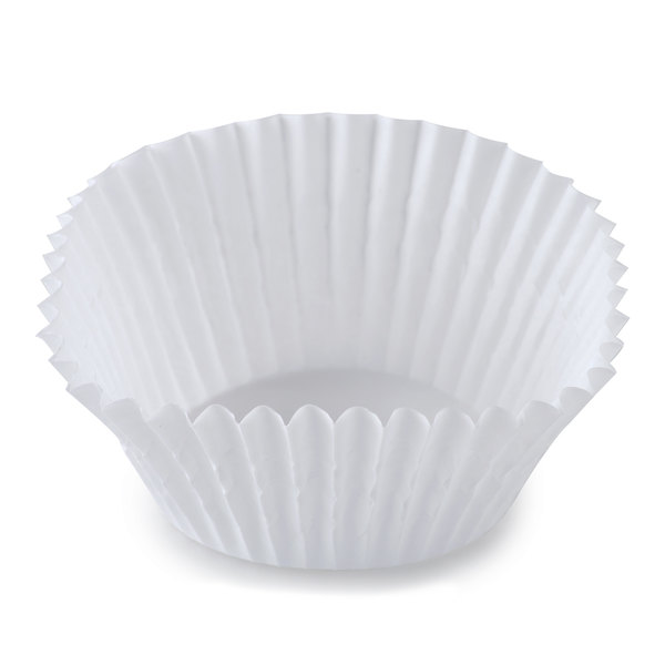 White Fluted Baking Cup 2 inch x 1 3/8 inch - 10,000 / Case