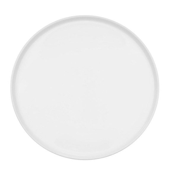 "CAC PP-12-R Triumph 12"" Bright White Round China Tray - 12/Case"