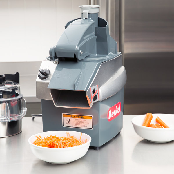 Berkel CC34/2-STD Combination Continuous Feed Food Processor with 3.2 Qt. Bowl and Shredder / Slicing Plates - 1 1/2 hp