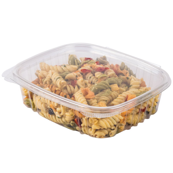 Genpak AD24 24 oz. Clear Hinged Deli Container - 200/Case