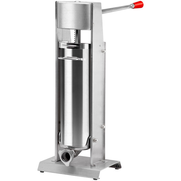 Tre Spade Manual 22 lb. Vertical 2-Speed Stainless Steel Sausage Stuffer Main Image 1