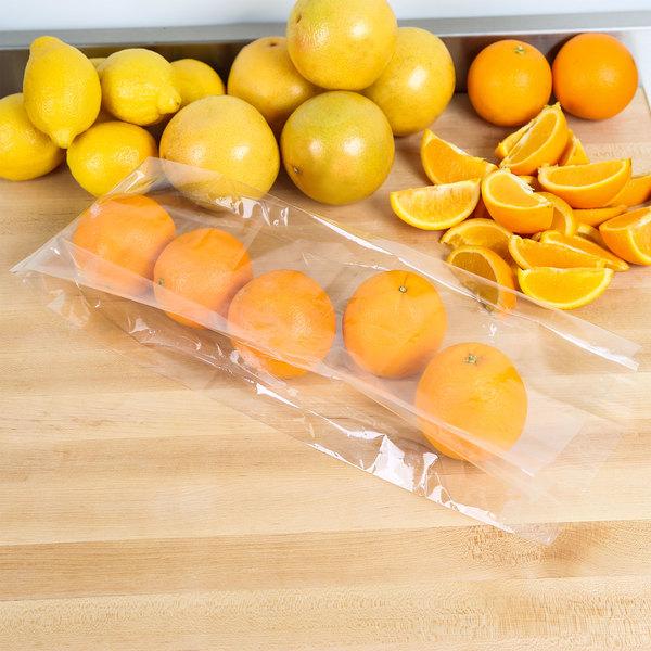 """LK Packaging P12G054518 Plastic Food Bag 5"""" x 4 1/2"""" x 18"""" 1.2 mil - 1000/Box Main Image 3"""
