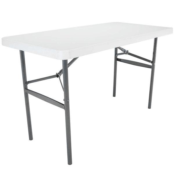 "Lifetime Folding Table, 24"" x 48"" Plastic, White Granite - Bulk - 2950"