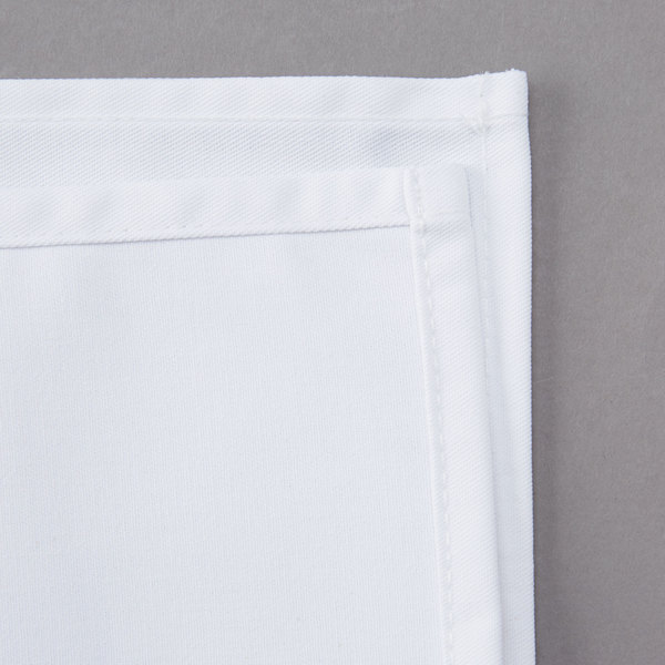 50 white dinner cloth wedding collection 100/% cotton catering napkins 20/""
