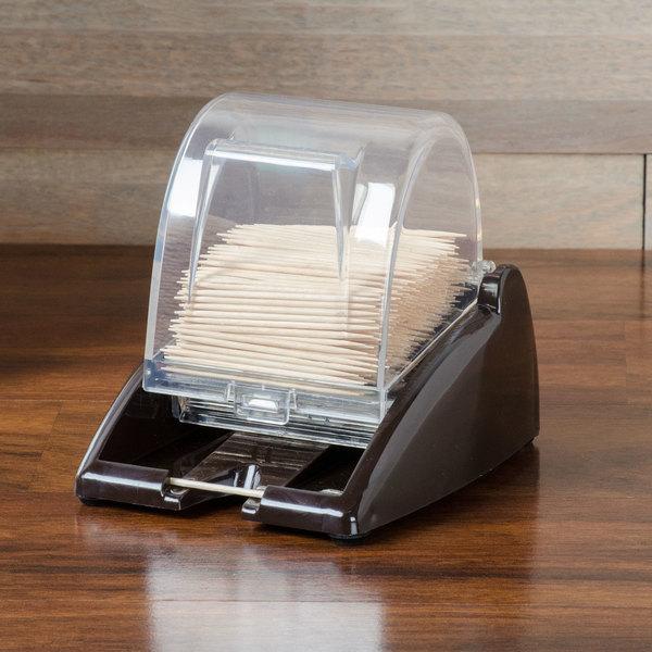 Vollrath 3853-01 Quik-Pik Brown Toothpick Dispenser