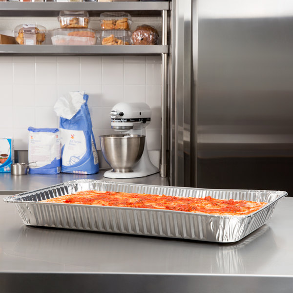 Choice Full Size Foil Steam Table Pan Medium Depth - 50/Case