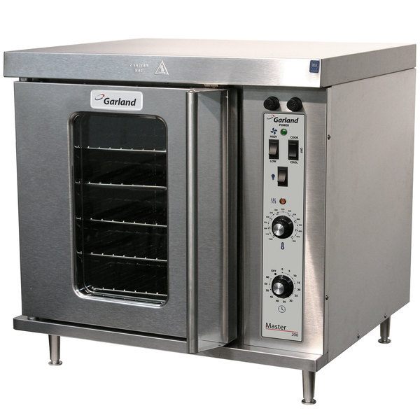 Garland MCO-E-25-C Double Deck Half Size Electric Convection Oven - 208V, 1 Phase, 11.2 kW Main Image 1