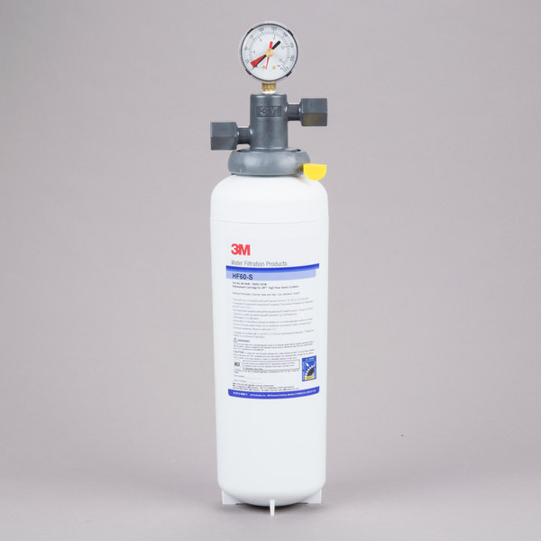 3M Cuno ICE160-S Single Cartridge Ice Machine Water Filtration System - 0.2 Micron Rating and 3.34 GPM