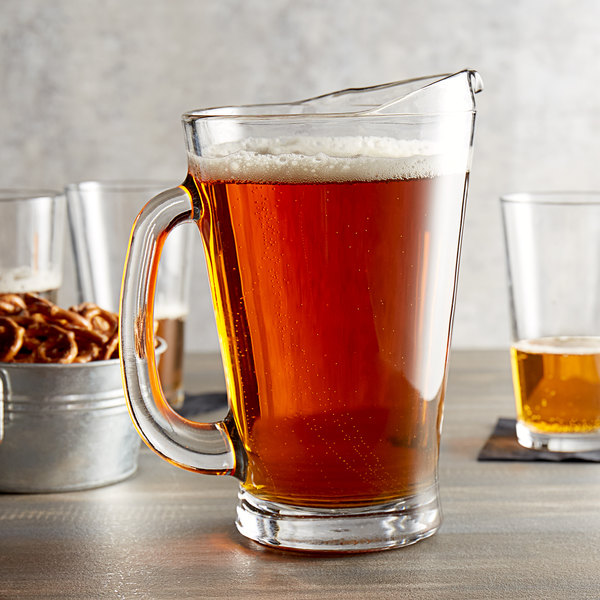 Anchor Hocking 1155UR 55 oz. Glass Beer Wagon Pitcher Main Image 2