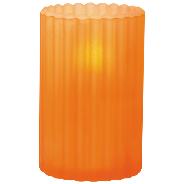 """Sterno Products 80216 3 1/8"""" x 5"""" Orange Frost Paragon Candle Liquid Candle Holder"""