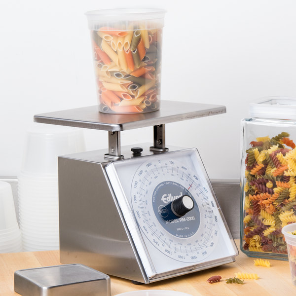 """Edlund RM-2000 Four Star Series 2000 g Metric Portion Scale with 7 3/4"""" x 7 1/2"""" Platform"""