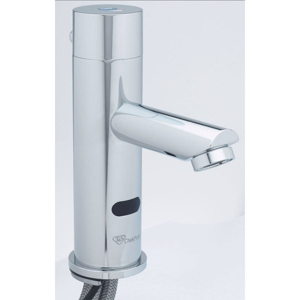T&S EC-3106 ChekPoint Single Hole Deck Mounted Electronic Hands Free Sensor Faucet with Cast Spout ADA Compliant