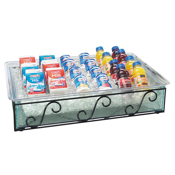 """Cal-Mil 413-12-13 Glacier Ice Housing with Clear Pan - 20"""" x 12"""" x 8"""""""