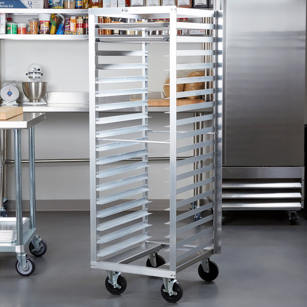Metro RF3N 18 Pan End Load Aluminum Roll-In Refrigerator Rack Main Image 3