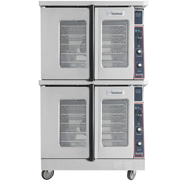 Garland MCO-GS-20S Liquid Propane Double Deck Standard Depth Full Size Convection Oven with Analog Controls - 120,000 BTU