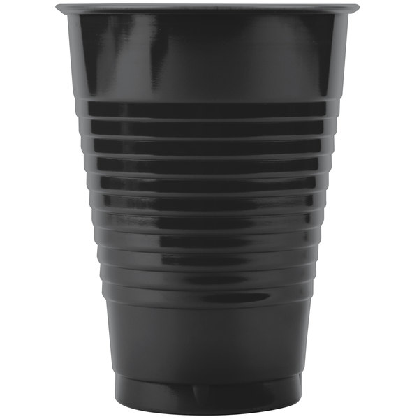 Creative Converting 28134071 12 oz. Black Velvet Plastic Cup - 240/Case