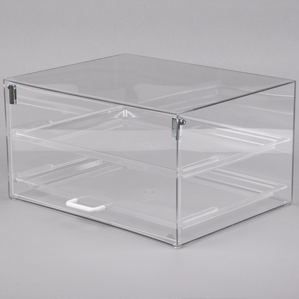 Cal-Mil 921 Classic Stackable Two Tier Acrylic Display Case with Front Door - 18 1/2 inch x 14 inch x 10 inch