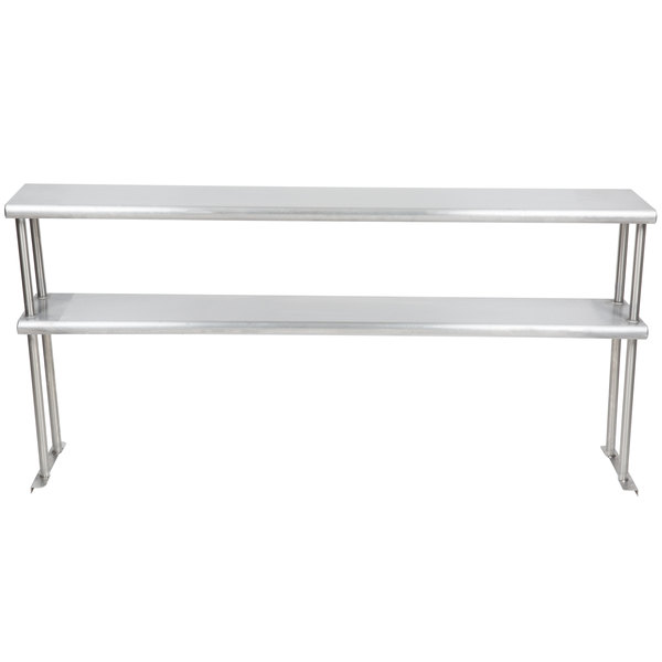 "Eagle Group DOS-HT4 Stainless Steel Double Overshelf - 10"" x 63"""