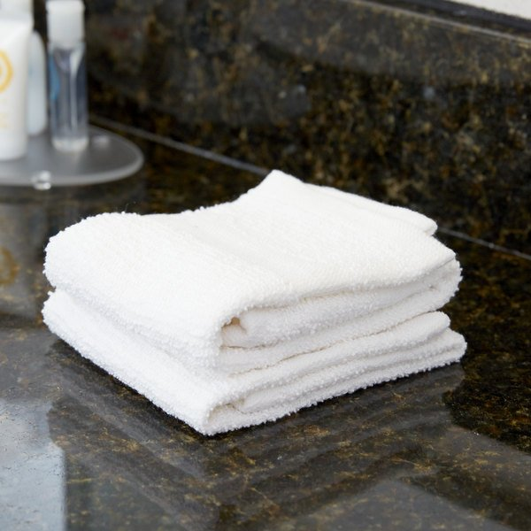 """12"""" x 12"""" 100% Open End Cotton Hotel Washcloth 1 lb. - 12/Pack"""