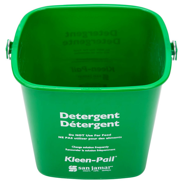 San Jamar KP196GN 6 Qt. Green Cleaning Kleen-Pail