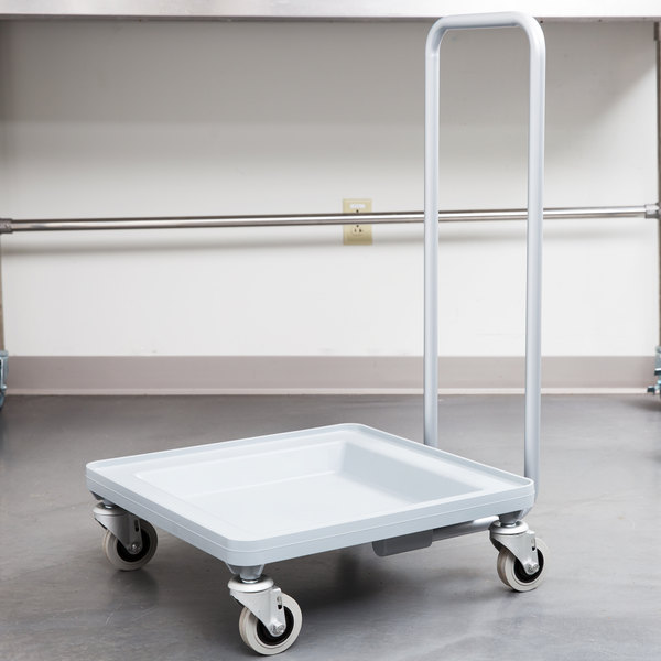 Cambro CDR2020H Soft Gray Camdolly Dish / Glass Rack Dolly with Handle Main Image 3