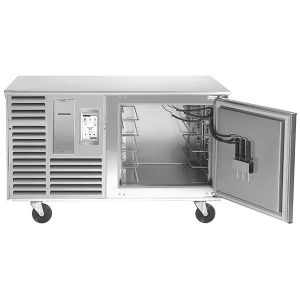 "Traulsen TBC5-54 Spec Line Undercounter 5 Pan Blast Chiller - Right Hinged Door with 6"" Casters and Stainless Steel Back Main Image 1"