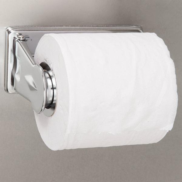 San Jamar R200XC Locking Single Roll Toilet Tissue Dispenser - Chrome