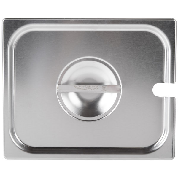 Vollrath 75220 Super Pan V 1/2 Size Slotted Stainless Steel Steam Table / Hotel Pan Cover Main Image 1