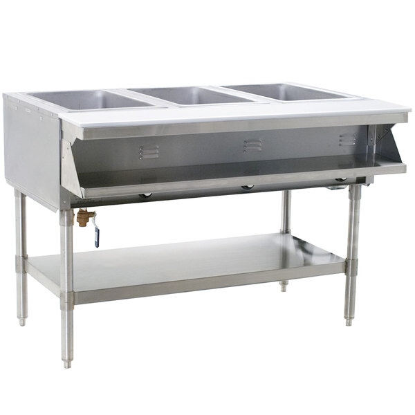 Eagle Group SHT3 Steam Table - Three Pan - Sealed Well, 120V Main Image 1